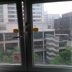 Another picture of the broken window in Manchester Room 421
