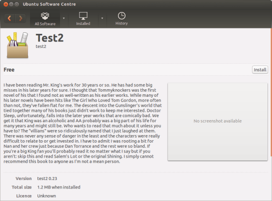 test2 ebook - as seen in the ubuntu Software Centre