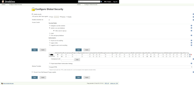 Configure Jenkins security