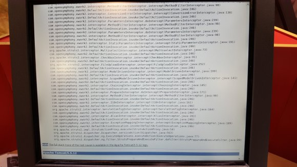 End of stocks Argos stack trace
