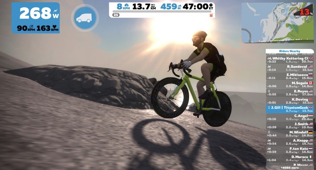 TitaniumGeek Screen-Shot-2018-02-01-at-23.10.14 Kurt Kinetic Rock and Roll Smart Control Trainer Review | Zwift Gear Test Zwift Gear Test Zwift Smart trainer power meter Kurt Kinetic