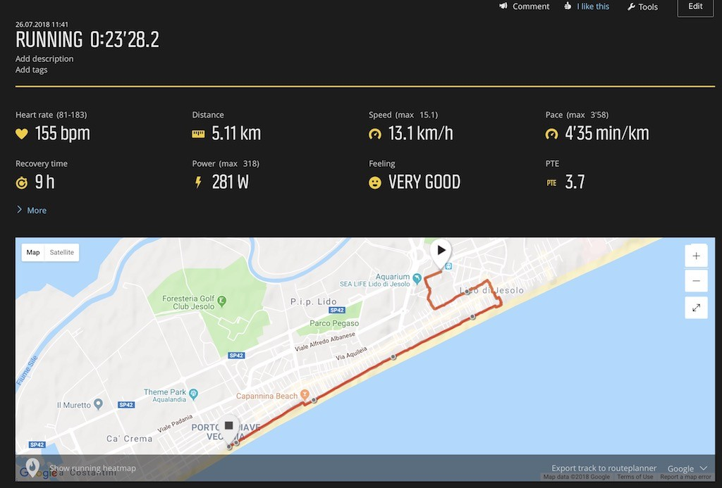 TitaniumGeek Screen Shot 2018 08 10 at 21.24.55 1 Suunto 9 Multisport GPS Watch Review   Biggest Battery Wins! Cycling Gear Reviews Heart Rate Monitors Running Sports Watches  watch Suunto running optical HRM multisport HRM GPS   Image of Screen Shot 2018 08 10 at 21.24.55 1