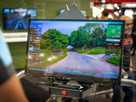 TitaniumGeek Tacx Desktop App Which Turbo Trainer Mat is Best for Zwift? Zwift Gear Tests Cycling Gear Reviews Zwift  zwift cave Zwift Wahoo Turbo Trainer turbo mats Tacx mats elite Cycleops   Image of Tacx Desktop App