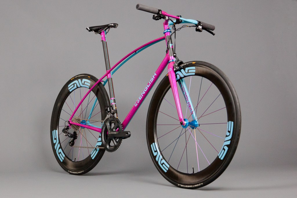 TitaniumGeek English Cycles Magenta Blue 003 2113 The Perfect Zwift/Any Other Virtual Platform Bike? Cycling Indoor cycling RGT Smart Trainers Turbo training Turbo Training Veloton Virtual cycling Zwift  Zwift road racing rgt cycling RGT paincave indoor training indoor cycling fitness motivation eSports eracing   Image of English Cycles Magenta Blue 003 2113
