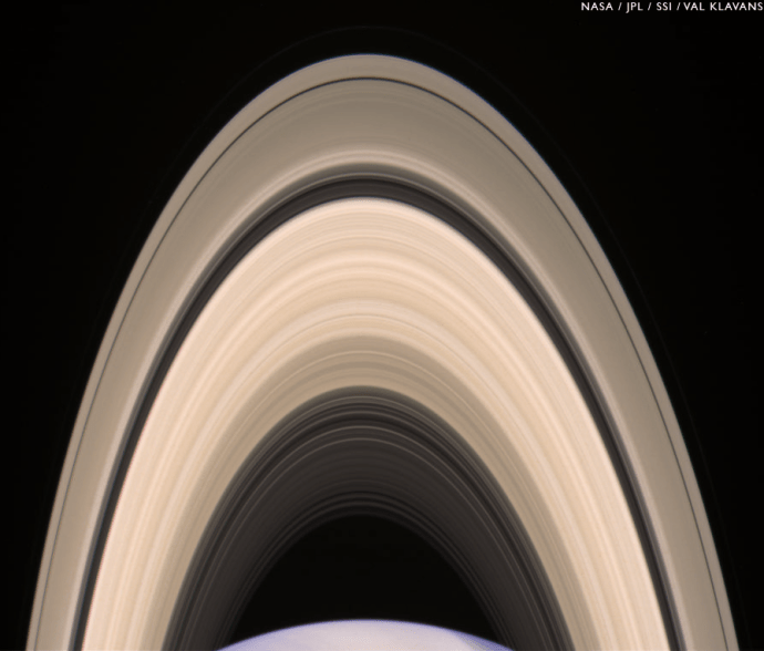 Saturn's rings on May 10, 2014