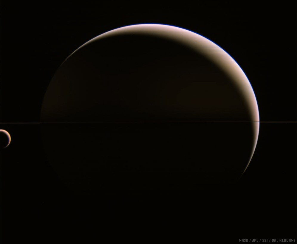 Saturn and Titan Together