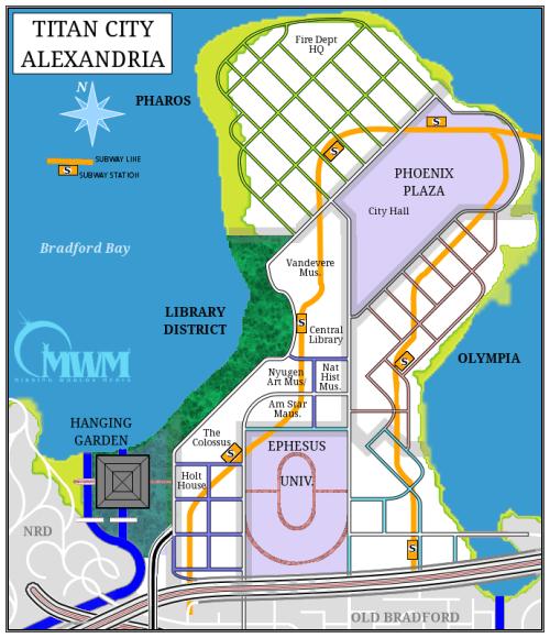 Carte Alexandria city of titans