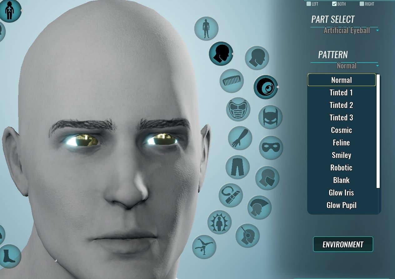 Nouveau matériau du globe oculaire métallique
