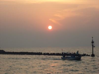 sunrise di Pulau Untung Jawa, Juli 2012