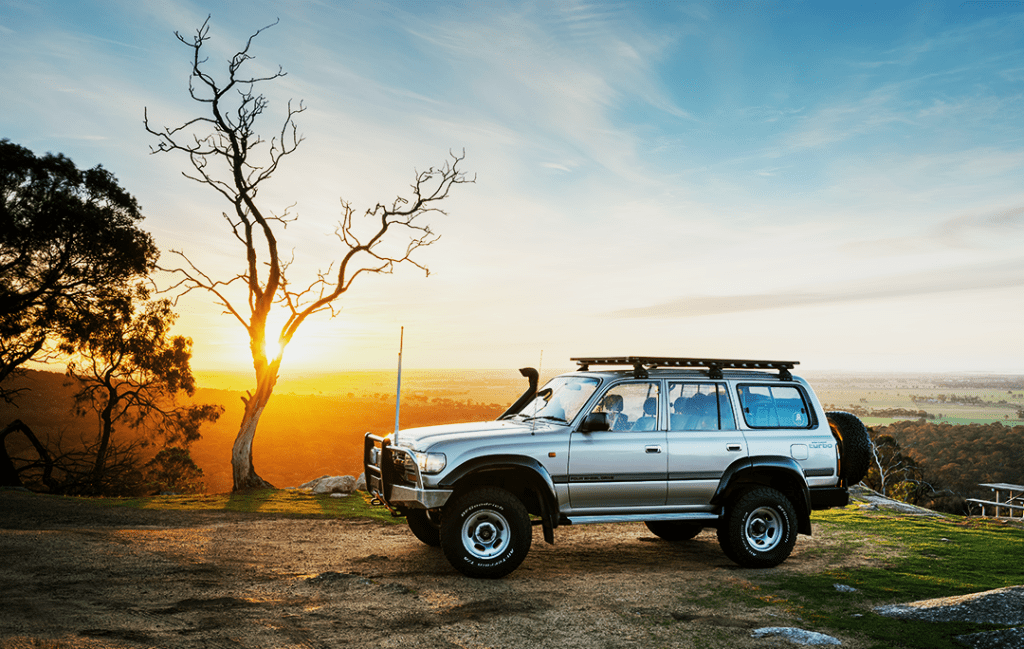 Titan Tray on Land Cruiser at Sunset
