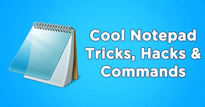 computer notepad tricks