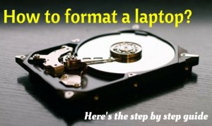 How To Format A Laptop With Windows 7 or Windows 8