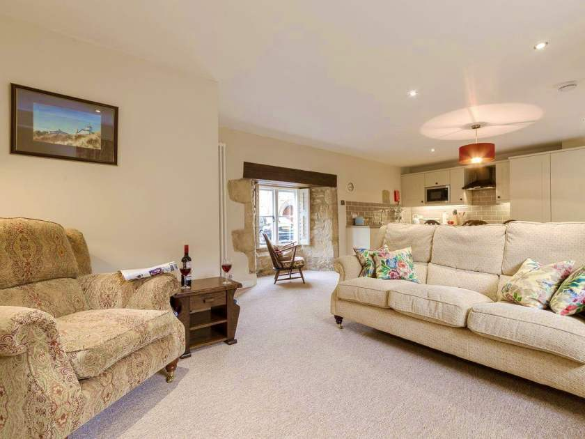 Byre living area with boutique styling