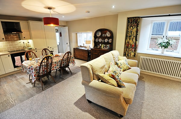 Byre Cottage Lounge and Dining Area