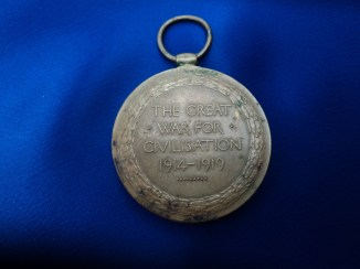 Victory Medal of William Westcott, South Wales Borderers