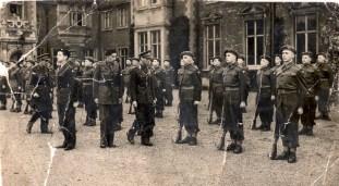 Eric Norman Titheradge at Sandringham about 1941 with George Vl