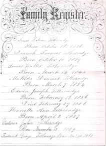 Page of family Bilble for family of Fabian William Titheradge