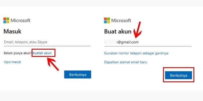 Daftar Microsoft Pakai Gmail dan Yahoo