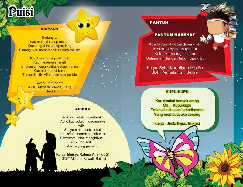50+ Puisi Anak SD Indonesia tentang Alam, Keluarga, dan ...