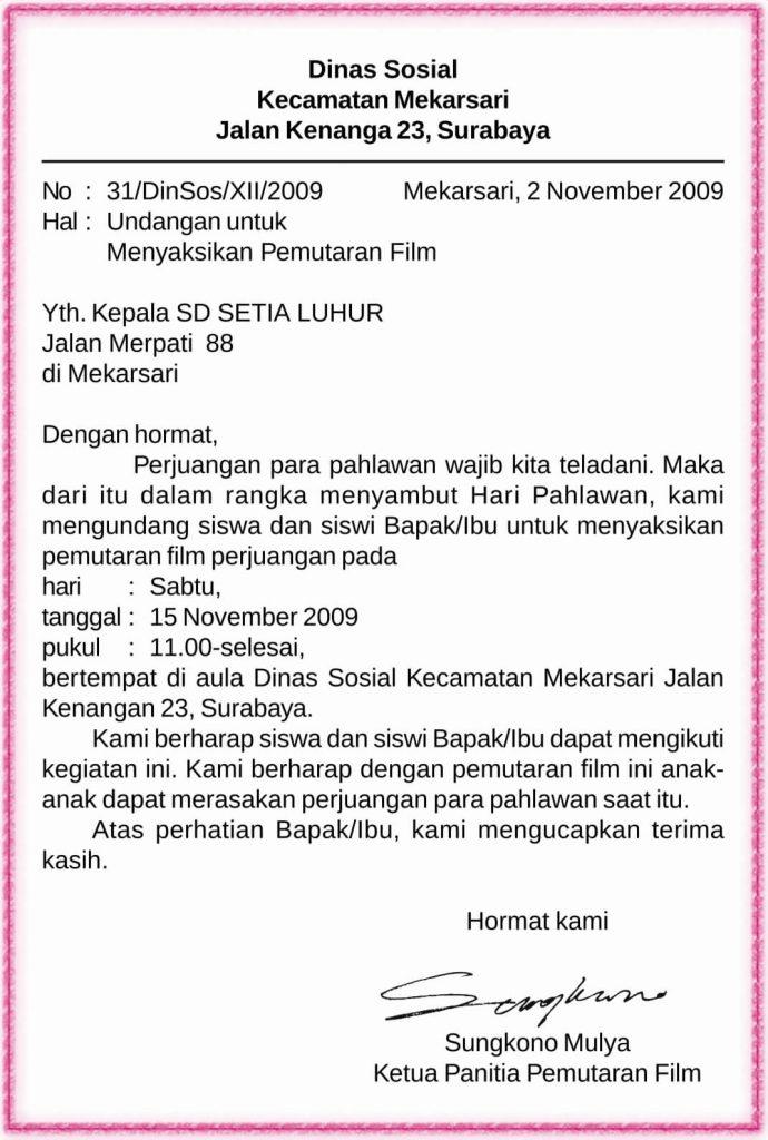 Contoh Surat Dinas Yang Benar Dalam Bahasa Indonesia ...