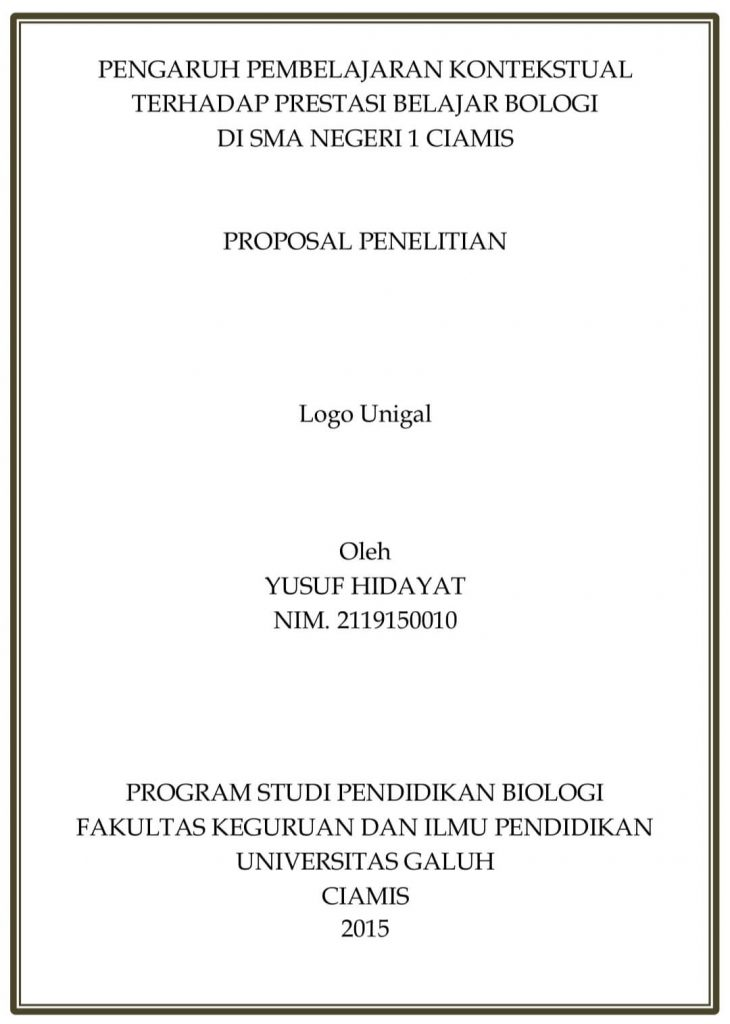 Contoh sampul proposal