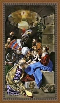 La adoración de los reyes - Juan Bautista Maino