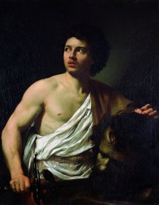 David con la cabeza de Goliath - Simon Vouet
