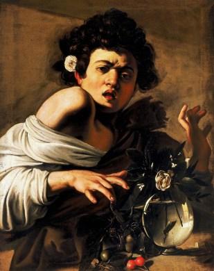 Muchacho mordido por un lagarto - Caravaggio