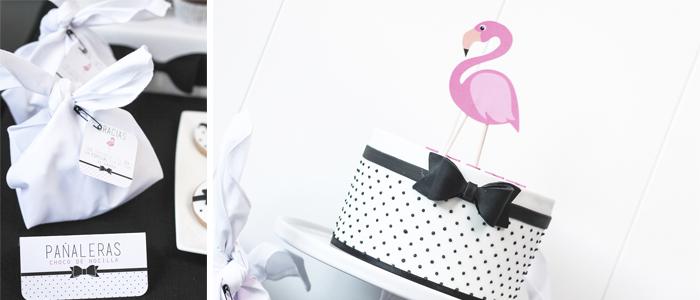 Mesa de dulces Flamingo