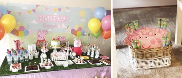 Mesa de dulces Peppa pig