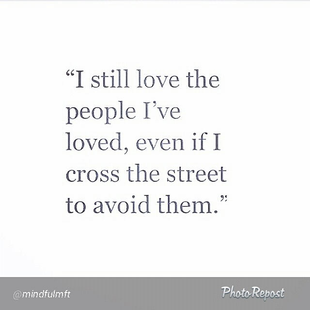 I still love the people I've loved...