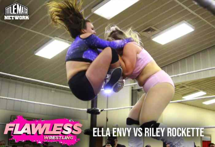 Ella Envy vs Riley Rockette 1200x675 Graphic Title Match Network - Flawless Women's Wrestling NEW