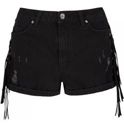 Very-Rochelle-Humes-Fringe-Side-Denim-Shorts-£29