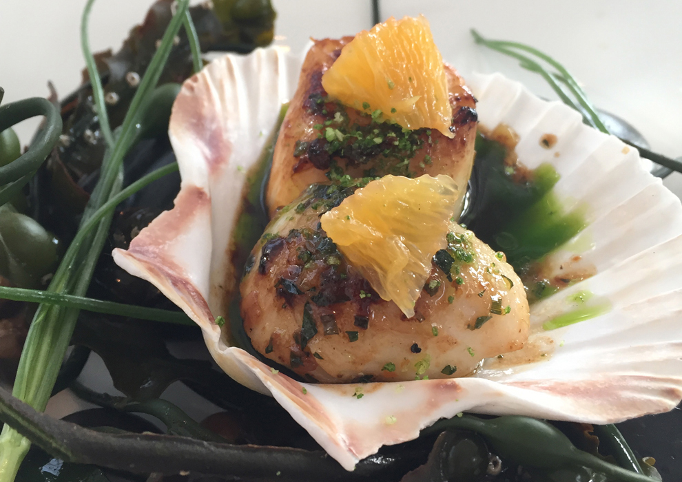 Scallops with orange