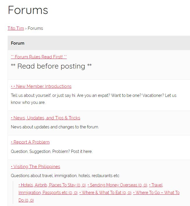 Announcing our new expat chat forum! - Tito Tim's Travels