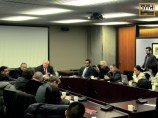 Mayor Rob Ford at the Round table discussions with members of the Ethnic Media in Toronto City Hall. Jan 20th 2014. ""