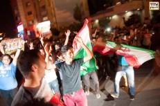 Iran National Soccer Fans in streets of Tehran. Photo By Nima Hajirasouliha
