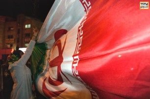 Iran National Soccer Fans in streets of Tehran. Photo By Nima Hajirasouliha