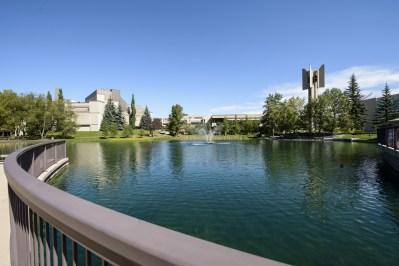 Mount Royal University, Calgary Mount Royal University pond and carillon