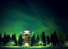 University of Manitoba, Winnipeg Administration Building at night.
