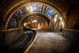 City Hall Station - New York City, New York. City Hall Station was built in 1904 and closed in 1945 as only around 600 people used it only a daily basis.