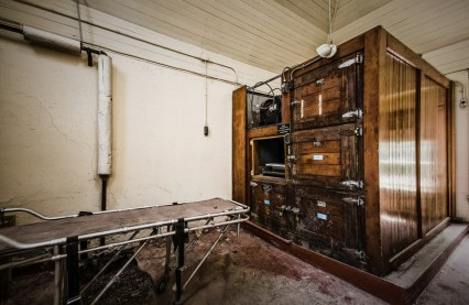 """Willard Asylum - Willard, New York. Willard Asylum for the Chronic Insane was built in 1869 and closed in 1995. Housing 4000 patients at its peak, more than half of the 50,000 patients who called Willard Asylum their home died within its walls. This makes the asylums morgue (pictured above) one of the creepiest places we can imagine. By its closure, most patients were eventually integrated back into society, but in the early days """"people didn't leave unless it was in a box."""""""