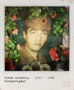 A picture taken with an iPhone on September 19, 2014 and processed with Hipstamatic and Polamatic applications shows a portrait of Torab Aleshloo inside a decorative box next to his grave at the martyrs section of Behesht-e Zahra (Zahra's Paradise) cemetery, south of Tehran. Aleshloo was a 23-year-old Iranian Army soldier, killed on May 3, 1982, in the city of Ahvaz during the Iran-Iraq war (1980-88). The war between Iran and Iraq was the longest conventional war of 20th century and was officially started on September 22, 1980, when Iraqi armed forces invaded western Iran and ended on August 20, 1988, when Iran accepted the United Nation's ceasefire resolution 598. More than one million people died in the eight-year war