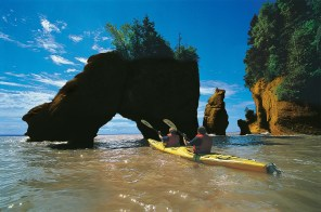 Canada's Bay of Fundy, renowned for having the highest tides on the planet, is one of the country's most extraordinary natural wonders and attracts about a million tourists every year. Credit: New Brunswick Dept.