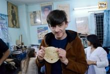 مرادجان توچیف، کارگردان جوان روس و هنرجوی کارگاه فیلم سازی جشنواره.