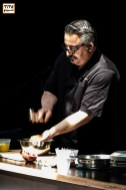 Chef Hoss Zaré workshop on Persian Cuisine at Tirgan Festival in Toronto. 2017