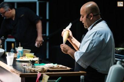 Chef Hamid Salimian's workshop on Persian Cuisine at Tirgan Festival in Toronto. 2017
