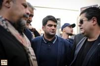سالار عقیلی و امیر علی ملک مطیعی در مراسم وداع با ناصر ملک مطیعی - عکس از مجید فراهانی