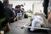 امیر علی ملک مطیعی در مراسم وداع با ناصر ملک مطیعی در خانه سینما - عکس از مجید فراهانی