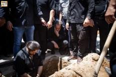 سعید سهیلی در مراسم خاکسپاری ناصر ملک مطیعی - عکس از یاسمن ده میانی